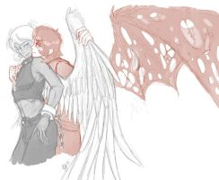Flux and Cael - WIP by impia-dea