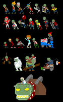 Plants vs Zombies by ganando-enemigos