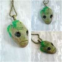 Groot from Guardians of the Galaxy Pendant by kawaiibuddies