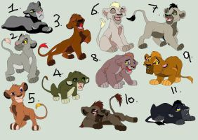 Lion cub adopts~OPEN by Adopt-Til-You-Drop