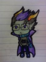 Chibi Eridan Ampora complete by MyAliceKills