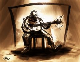Guitarist Painted by StephenEusebio