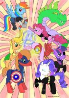 Pony Avengers by spot1the2dog3