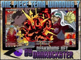 Sakazuki Akainu Theme Windows 7 by Danrockster