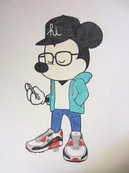 Air Max Mickey by iliketodoodle