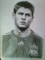 Stevie Gerrard Portrait by Craig-Stannard