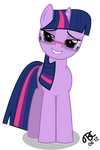 Twilight Sparkle: With glasses and lipbite by TBCroco