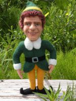 Will Ferrell Elf Needle Felted by FeltAlive