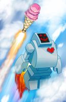 LOVEBOT IceCream ROCKET by FooRay