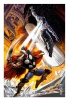 THOR VS SILVER SURVER by AdmiraWijaya