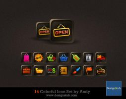 Web icon set by designstub