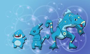 Water starter evolution line by Clophil