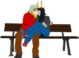 Vriska and Cartman by Knight-Beast-X