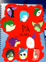 P-A Character Heads by Irish-Gamer