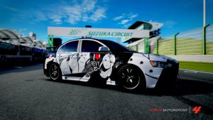 Forza 4 ~ Mitsubishi Lancer Black Lagoon Design by Black0raz0r