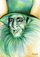 Leprechaun smiling by katusha