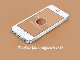 It's time for a coffeeeebreak! (iPhone Wallpaper) by dearsamuel