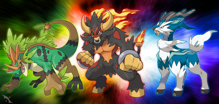 Fakemon Starters Final Stages by Xous54