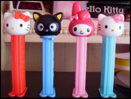 Sanrio Pez :'D by Kitty-Sprinkles