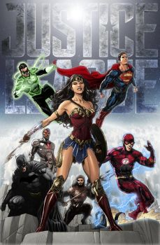 Justice League DCEU by zg01man