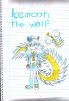 Mephiles and Crystals Child Icemoon the wolf by Mephystal-4eva