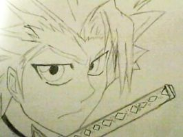 Captain Hitsugaya sketch by Deathra-Sorrows