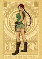 Lara Croft - Mucha Style by Val-eithel