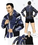 Kaidan in his Hoodie Skitches by silvermittt