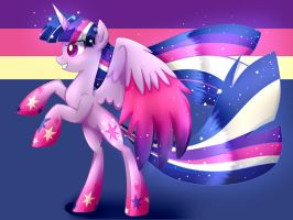 Rainbow Power Twilight by Le-Poofe