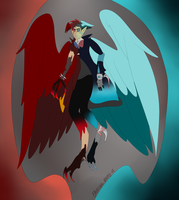 Egg 14, Fire and Ice (Hatched Egg Adopt) by CannibalHarpy
