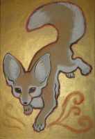 traditonal fennec fox by missmonster