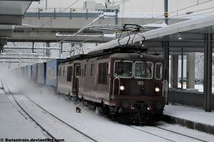 BLS Re 425 183 + 189 by SwissTrain