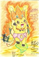 Happy 2015 and PY 4th Anniversary by PichuYang
