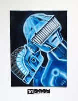 Daft Punk painting by DoomCMYK