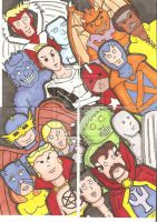 The Defenders Sketchcards by crpechonick