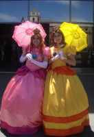 Peach and Daisy: Fanime 2010 by PhantressSaphira