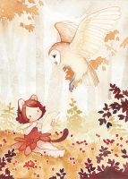 The barn owl by Rozenng
