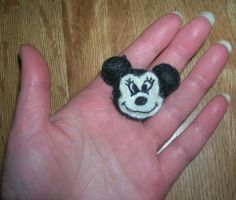Felt Minnie Mouse hair clips WIP 2 by PomDragon