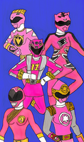 Missing Pink Rangers by LavenderRanger