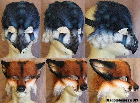 February LARP Masks by Magpieb0nes