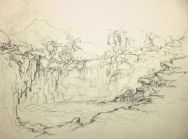 Tropical Forest sketch by hecestmoi