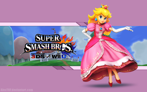 Peach Wallpaper - Super Smash Bros. Wii U/3DS by AlexTHF