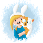 Fionna and Cake - Digital painting? by Marcotto