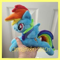 mlp plushie Rainbowdash Beanie AVAILABLE now by CINNAMON-STITCH