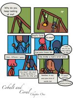 Cobalt and Coral Comic Form- Chapter One, Page One by Faliara