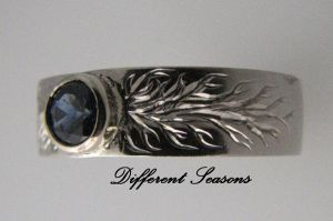 Flame shot Sapphire Ring by jessa1155