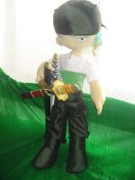 Zoro plushie - ready to fight by Rens-twin