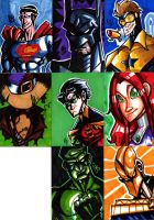 DC Artist Cards 1 by ScarecrowArtist