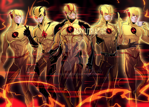 Multiples of Eobard Thawnes by DarkLitria
