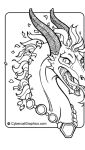 Furry and Fantasy Coloring Book Previews by lady-cybercat